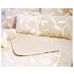 Camel 160x200 45x75 liście kołdra poduszka wełna