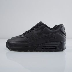 Sneakers buty Nike Air Max 90 Leather black / black (302519-001)