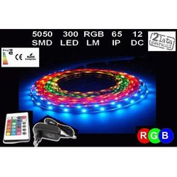ZESTAW LED TAŚMA RGB 5050 IP65 5M ZASILACZ+PILOT