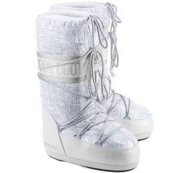 MOON BOOT Shiny Brush - Wielokolorowe Tekstylne Śniegowce Damskie - 14019500001