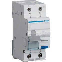 Hager RCBO Wyłącznik różnicowoprądowy z członem nadprądowym 1P+N 6kA B 20A/30mA Typ AC ADC920D