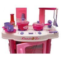 Emily - Kuchnia z piekarnikiem różowa - dźwięki, światło, akcesoria