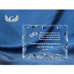 Trofeum szklane w etui - DIANA - Podziękowanie dla rodziców