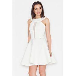 Ekskluzywna neoprenowa sukienka ecru