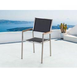 Meble ogrodowe czarne - krzeslo ogrodowe - balkonowe - tarasowe - GROSSETO