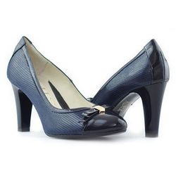 Pantofle Emis 6594 Granatowe