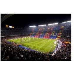 Fototapeta BARCELONA - JANUARY 25: View of Camp Nou stadium before the Spanish Cup match between FC Barcelona and Real Madrid,