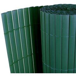 vidaXL Dwustronny płot ogrodowy PCV, 150 x 500 cm, listwa 12 mm zielony Darmowa wysyłka i zwroty
