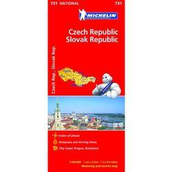 Czechy i Słowacja mapa 1:600 000 Michelin (opr. twarda)