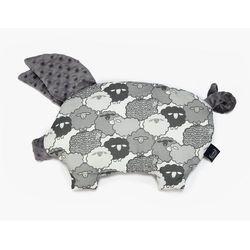 Poduszka-przytulanka ŚWINKA - sleepy pig La Millou - grey+graphite sheep family