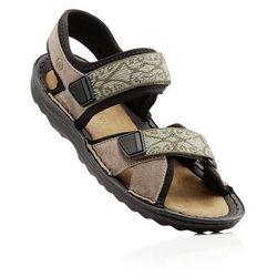 Sandały trekkingowe ze skóry bonprix beżowy