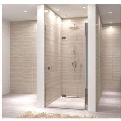 MY SPACE Drzwi prysznicowe składane 100x190, profile chrom, szkło transparentne EasyClean