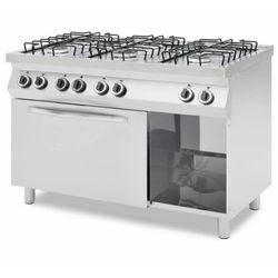 Kuchnia gazowa z piekarnikiem elektrycznym | 6 palników | 1200x700x900mm