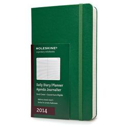 Kalendarz 2014 L Moleskine dzienny zielony