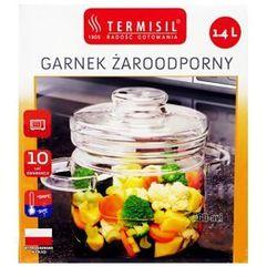 GARNEK szklany TERMISIL 1.4 L z pokrywką