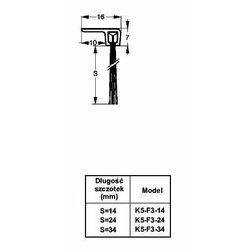 Listwa progowa STRIBO F3-34 1 mb