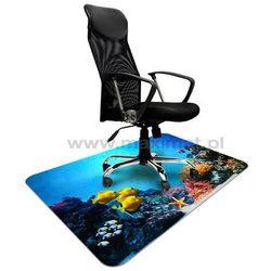 Mata ochronna pod krzesło na kółkach z nadrukiem 026 - 100x140cm - grubość. 1,3mm