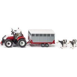 Model SIKU 3870 Traktor Steyr CVT 6230 z przyczepą dla bydła