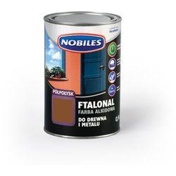 Emalia alkidowa Ftalonal Brązowy półpołysk 0,9L Nobiles
