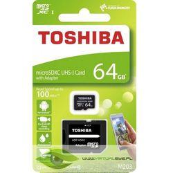Karta pamięci z adapterem MicroSDXC Toshiba 64GB Class 10 THN-M203K0640EA