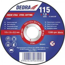 Tarcza do cięcia DEDRA F13013 115 x 2.5 x 22.2 mm do stali