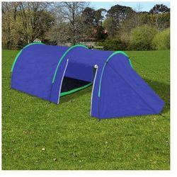 Wodoodporny namiot dla 4 osób granatowy / zielony Zapisz się do naszego Newslettera i odbierz voucher 20 PLN na zakupy w VidaXL!