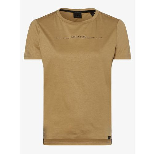 Scotch & Soda - T-shirt damski, beżowy