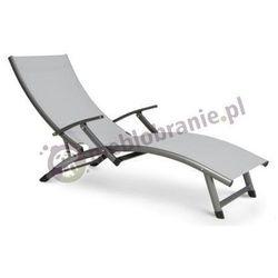 Leżak ogrodowy aluminiowy Relax szary