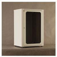 Netrack szafa wisz./stoj. 19'', 18U/450 mm – popiel, drzwi przeszklone