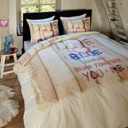 Bawełniana pościel LOVE IS BLUE (200 x 220 cm)