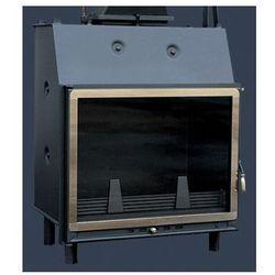 NOWOCZESNY duży wkład kominkowy wodny ze złoconą ramą drzwi Kominek z płaszczem wodnym 18-30kW WIGOENK