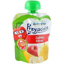 BOBOVITA 80g Przyjaciele Jabłko banan Pierwsza łyżeczka po 4 miesiącu