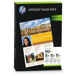 Zestaw tuszy HP 951XL / CR712AE CMY do drukarek (Oryginalny) + Papier Foto