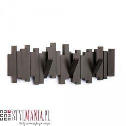 Ozdobny wieszak na ubrania kawowy Umbra Sticks 318211-213