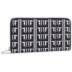 de9bf75396551 Duży Portfel Damski TRUSSARDI JEANS - T-Easy Monogram Zip 3 Pocket 75W00165  K308