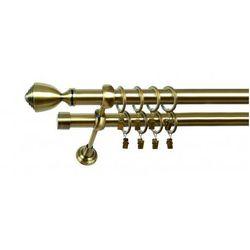 Karnisz Podwójny MARTA Ø19/19mm Avanti : dlugosc karniszy - 280 cm, Rodzaj - Metalowy, Kolor Karnisza - Tytan, Mocowanie - Ścienne