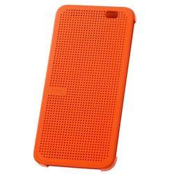 Etui Dot View HTC HC M110 Pomarańczowe do HTC ONE E8 - Pomarańczowy