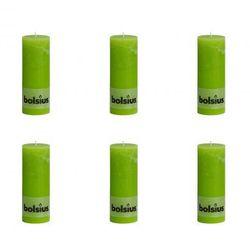 Świece rustykalne, Bolsius (190x68 mm) x6 Zielony Zapisz się do naszego Newslettera i odbierz voucher 20 PLN na zakupy w VidaXL!