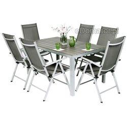 Zestaw ogrodowy aluminiowy MODENA 6+1 - Srebrny - Srebrny