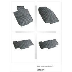 Dywaniki gumowe czarne z kompletem stoperów - Toyota RAV4 III 2006-2012