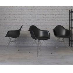 Krzesło P018 PPczarne chromowane nogi HF - czarny