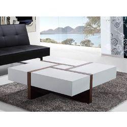 Nowoczesny stolik kawowy - lawa - szuflady - 100 x 100 - EVORA