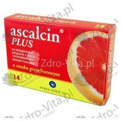 Ascalcin Plus o smaku grejpfrut. prosz. musuj. 0,5g+0,3g+0,2g 14 szt.