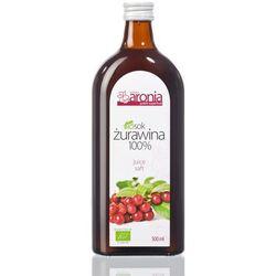 SOK ŻURAWINOWY 100 % BIO 500 ml - POLSKA ARONIA
