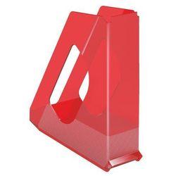 Pojemnik Esselte Europost Solea A4/70mm, 623566 przezroczysty-czerwony