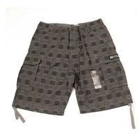 szorty REELL - Cargo Checkered (BLK G)