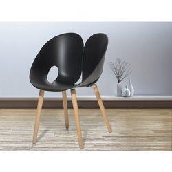 Krzesło czarne - Krzesło do jadalni, do salonu - krzesło kubełkowe - MEMPHIS