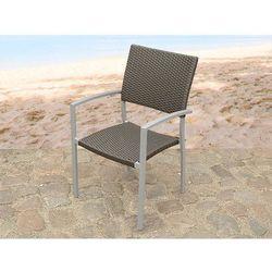 Meble ogrodowe brazowe - krzeslo ogrodowe - rattanowe - balkonowe - tarasowe - TORINO