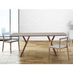 Stół do jadalni, kuchni, salonu - 180 cm - ciemny orzech - LISALA