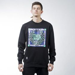 Mass Denim sweatshirt bluza Glassy crewneck black